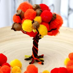 A beautiful centerpiece and a fun fine motor activity for kids.
