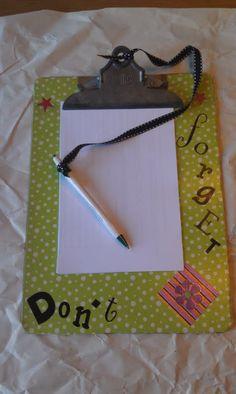 cute clipboard idea