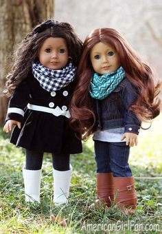 An infinity scarf is a must-have for Winter! I've been wearing lots when I go outdoors to keep away the chilly nip in the air. They aren't only practical, but also fashionable and I love them! My doll
