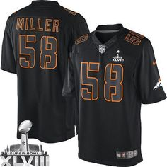 Von Miller Game Jersey-80%OFF Nike Impact Von Miller Game Jersey at Broncos Shop. (Game Nike Men's Von Miller Black Super Bowl XLVIII Jersey) Denver Broncos #58 NFL Impact Easy Returns.