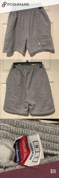Reverse Weave Shorts Men's Gray Lounge Shorts // Elastic Waistband // Size Large // Champion - Reverse Weave // 2-Pockets // Cotton/polyester Machine wash // New condition Champion Shorts Athletic