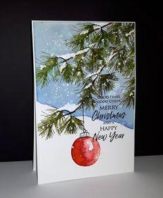 50 Creative & Classy DIY Christmas Table Decoration Ideas - The Trending House Painted Christmas Cards, Watercolor Christmas Cards, Christmas Canvas, Christmas Drawing, Diy Christmas Cards, Christmas Paintings, Christmas Love, Watercolor Cards, Xmas Cards