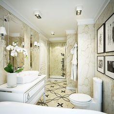 Апартаменты. Ванная комната. Стены/пол мрамор. Мебель #oasisgroup, бра #baccarat, унитаз #villeroyboch #egorova_marina #domoff_interiors #domoff_group #domof #вайнхаус #вайнхаус_dg