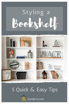 Outstanding smart home decor advice tips are offered on our internet site. Have a look and you wont be sorry you did. Decorating Bookshelves, Bookshelf Styling, Blue Bookshelves, Cute Dorm Rooms, Cool Rooms, Farmhouse Side Table, French Home Decor, Home Look, Smart Home