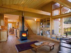 morso-wood-stove-Kitchen-Shabby-chic-with-cabin-dark-wood-floor ...