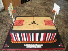 Chicago Bulls Basketball Court Cake — Basketball / NBA