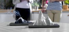 Ce brûleur d'encens design simule le cratère d'un volcan à la maison