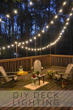 Diy deck lighting deck lighting decking and funky junk diy deck lighting aloadofball Images