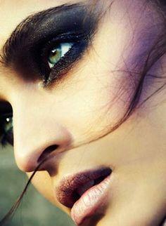 Celia Becker (model); nice purple shadowed cheek bone
