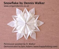 Origami paper snowflake http://recycle-craft.com/2014/11/21/snow-flake-paper/ links to some great origami pages here too!