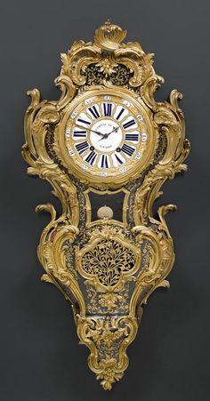 *PRUNKCARTEL, Régence, die Bronze von C. CRESSENT, das Zifferblatt und Werk sign. ETIENNE LE NOIR A PARIS, Paris um 1720/30.