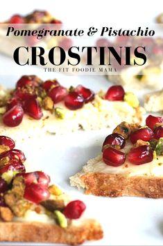 Pomegranate & Crushed Pistachio Crostini Appetizer Recipe {gluten free ...