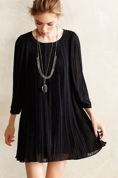 pleated millie swing dress / anthropologie
