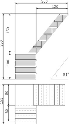 Лестничное устройство для внутреннего монтажа