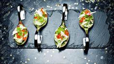 Krabberøre med avokado og ørretrogn