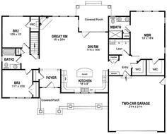 Split Bedrooms For Privacy - 19530JF | Ranch, Traditional, 1st Floor Master Suite, PDF, Split Bedrooms | Architectural Designs