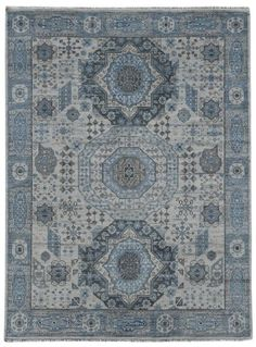 Blue, Grey, Beige (DIV-1) Traditional / Oriental Area Rug Turkish Design, Entertainment Furniture, Blue Home Decor, Muted Colors, Small Rugs, Nautical Theme, Hand Knotted Rugs, Rugs In Living Room