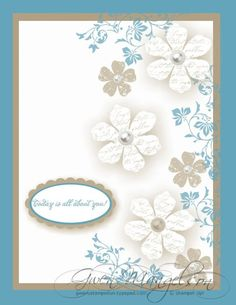 stampin up -blue leaves - so effective