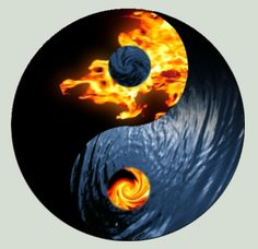 Fire and Water Yin Yang by oldschoolclassic.deviantart.com on @deviantART