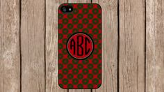 Personalized Monogram Oriental Red Green White for iPhone 4/4s/5/5s/5c Samsung Galaxy S3/S4/S5/Note 2/Note 3 by TopCraftCase, $6.99