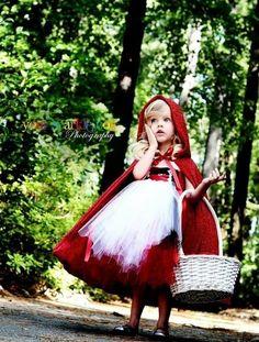 Déguisement du Petit Chaperon Rouge / Little Red Riding Hood Halloween costume #déguisementPetiteFille #déguisementFille
