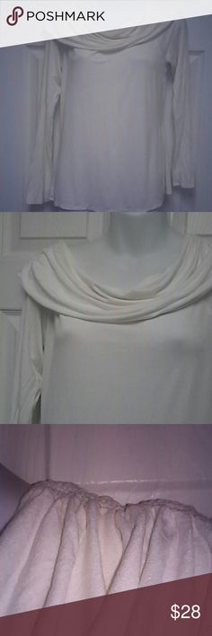 NWOT Max Studio Runched  Boat Neck Top Georgeous, never worn Max Studio Tops Blouses