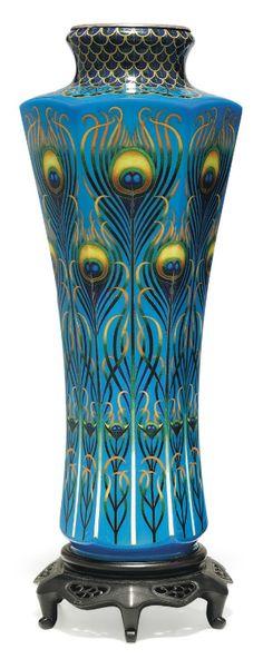 """Vases – Home Decor : """"Cloisonné enamel vase (pair)"""", Meiji period – Pictify – your social art network -Read More – Art Nouveau, Belle Epoque, Art Decor, Decoration, Peacock Art, Peacock Theme, Peacock Feathers, Jugendstil Design, Modernisme"""