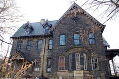 Singer mansion, Wilkinsburg, PA.    		North side of the house. Built 1863-69for John F. Singer in the Gothic revival style.