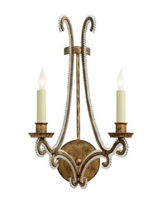 Oslo+2-Arm+Sconce+by+Visual+Comfort+at+Neiman+Marcus.