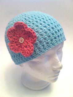 Hand Crocheted  Girls Aqua Cloche Beanie by StoneyCreekKnitters, $15.00