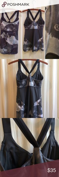 Lululemon Cross My Heart Tank Coal Grey 4 Excellent condition! lululemon athletica Tops Tank Tops