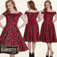 Prepare to break hearts and turn heads in the stunning Hell Bunny Cordelia Dress