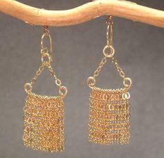Dangling chain tassels, about 1-3/4 long  Available in 14k gold filled & sterling silver, 14k rose gold filled  **We now offer LAYAWAY**Please