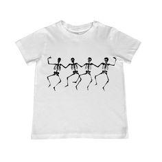 Child Dancing Skeletons illustration TShirt  by lesleyhornbeck, $10.00