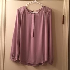 LOFT blouse. Brand new with tags. I am so sad! This just arrived, it's beautiful, but too big for me. Size medium. Only taken out of shopping bag & tried on once. LOFT Tops Blouses