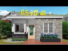 House plan of meters with 2 bedrooms Small House Layout, House Layout Plans, Small House Design, House Layouts, Small House Plans, Modern House Design, Bungalow House Design, Home Design Plans, My House
