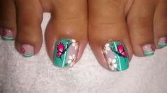 Fingernail Designs, Toe Nail Designs, Pedicure Nails, Mani Pedi, Butterfly Makeup, The Art Of Nails, Nail Effects, Feet Nails, Christmas Nail Art