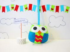 Ready To Ship Owl Ornament Felt Owl Creature Handmade by Feltos