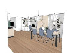 Interieur Portfolio 9 - THUIS interieur en woondeco Living Room Colors, This Is Us, Dining Table, Floor Plans, Loft, House, Furniture, Home Decor, Claire