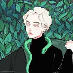 Draco malfoy, harry potter, and slytherin image Harry Potter Fan Art, Harry Potter Anime, Harry Potter Characters, Draco Malfoy Aesthetic, Slytherin Aesthetic, Pretty Art, Cute Art, Hogwarts, Boy Art