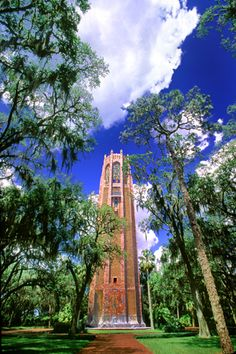 Carillon at Bok Tower Gardens, Lake Wales, Florida. A fun trip with Mom, Dad and Trin.  Highest point in Florida