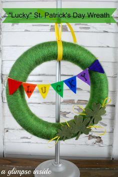 "A Glimpse Inside: ""Lucky"" St. Patrick's Day Wreath"