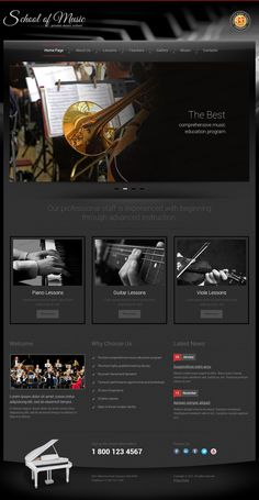 Private Music School Twitter Bootstrap HTML Template by Dynamic Template