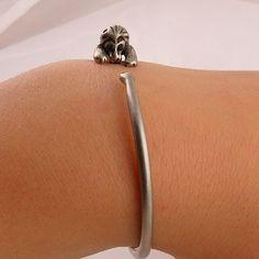 Animal Wrap Bracelet- Lion - White Bronze - keja jewelry