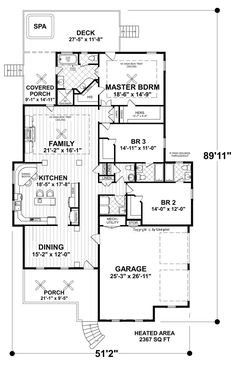 Free floor plans for small houses 2 bedroom house plans for Thehousedesigners com home plans