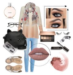 Hijab outfit #6 #hijab by aisyahla on Polyvore featuring polyvore, fashion, style, Joie, L*Space, Loungefly, Scialle, Chiara Ferragni, NARS Cosmetics, Lime Crime, Bobbi Brown Cosmetics, Chanel and clothing