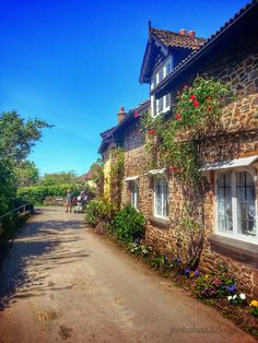A Country Lane - Bossington -West Somerset - England