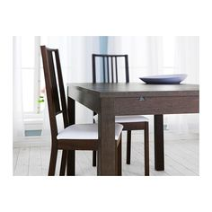 Ikea extendable dining table and tables on pinterest for Bjursta tavolo
