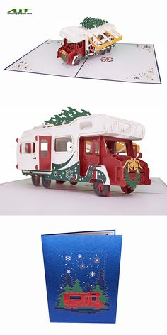 AITpop Christmas RV pop up card #christmas #christmascard  #christmasgift