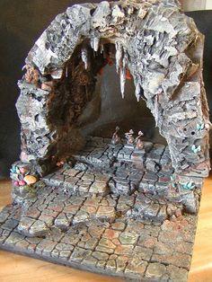 Cavern - - Post with 482 views. Warhammer 40k Tabletop, Warhammer Terrain, 28mm Miniatures, Fantasy Miniatures, Hirst Arts, Dungeon Tiles, Game Terrain, Wargaming Terrain, D Craft